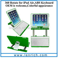 LBK163 For iPad keyboard swivel slide keyboard for iPad air lowest price