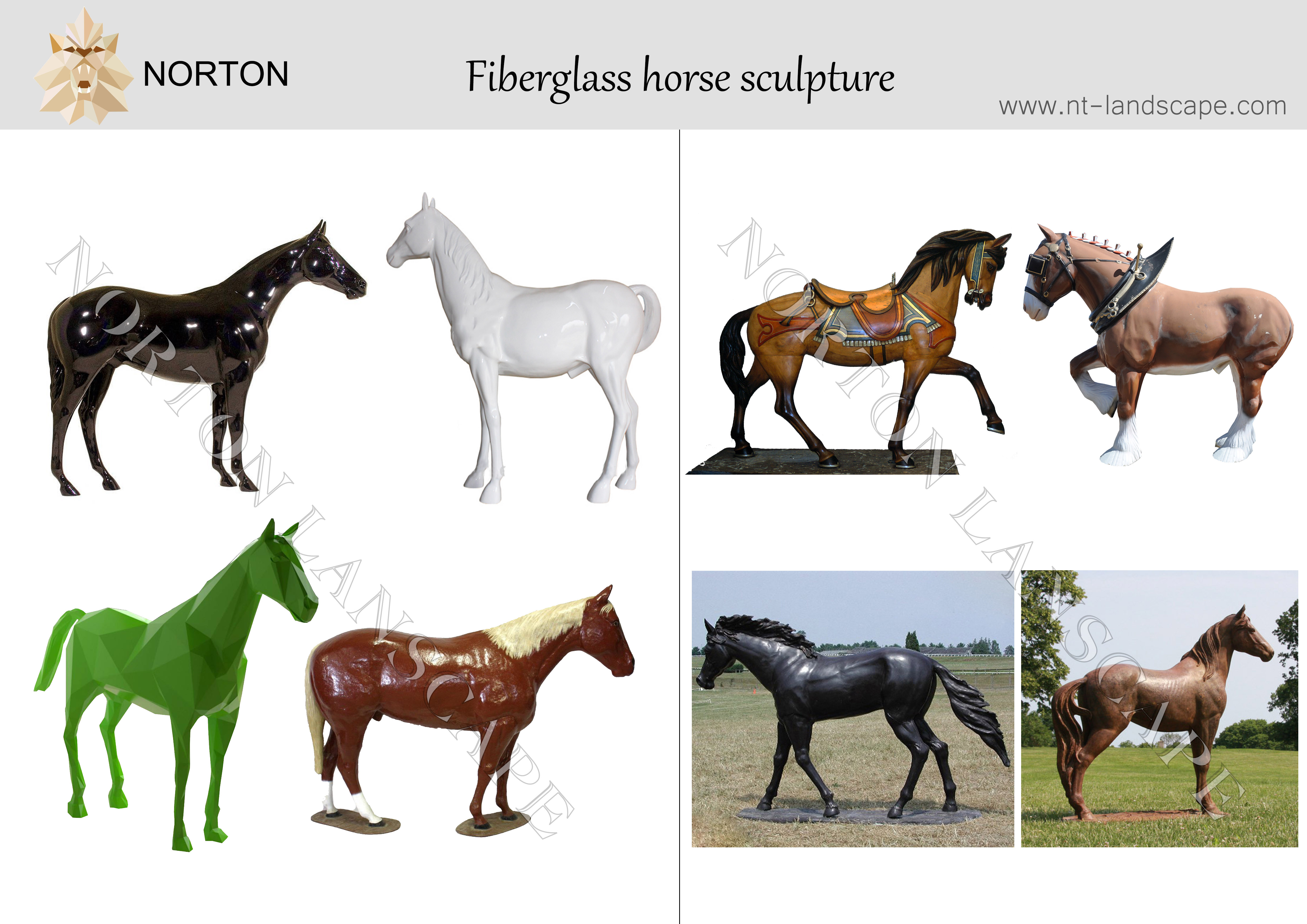 Garden Decor Custom Life Size Fiberglass Horse With Wings Statue Large Resin Pegasus Statue