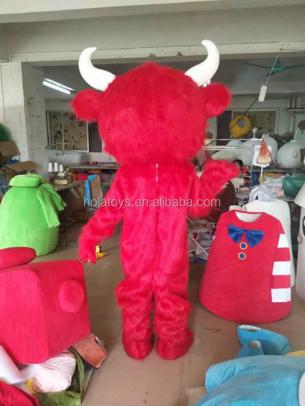 Red hair mascot costume/hot cartoon mascot costume