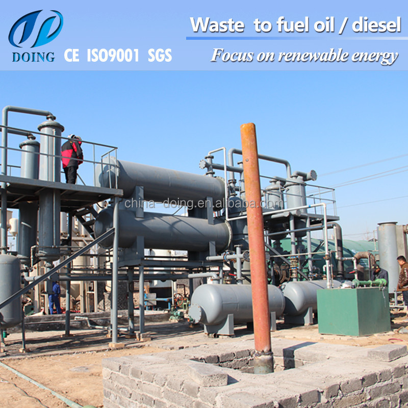 Environment protective Multi-safety devices 48% oil yield Waste Recycling Plant