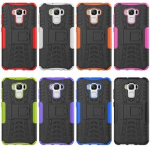 Hot in Amazon kickstand hyun pattern tyre armor mobile phone case for ASUS Zenfone 3 Max ZC553KL