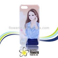 2013 China Guangzhou Newest IMD girl back case for iphone 5, plastic back cover iphone 5