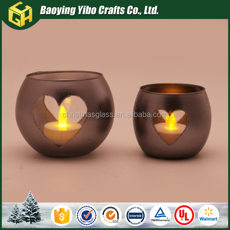 Baoying Yibo glass wine bottle candle holder