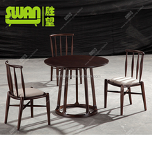 2249 high back wooden dining chair