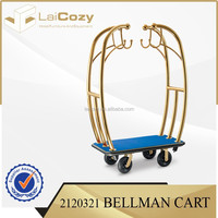 Hot sale hotel Luggage Cart/gold baggage trolley/hotel baggage trolley from Zhuhai laicozy