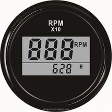 Waterproof 52mm Digital RPM Gauge Tachometer With Hour <strong>Meter</strong> 9990RPM With Backlight