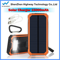 New product sun power mobile battery charger solar power bank with hook
