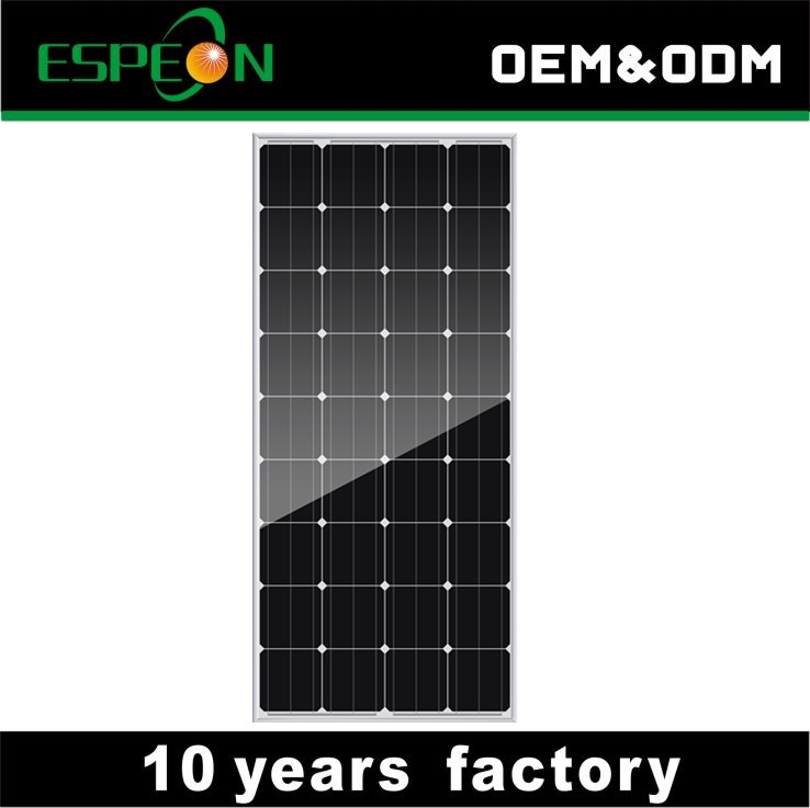 150W 18V 8.33A current mono solar panel IP65 MC4 15 amp diode