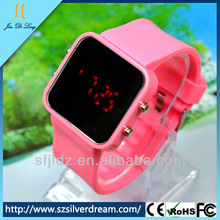 2014 China Factory Best-Selling OEM Fashion Quartz Wristband Silicone Sport Mirror Led Watch Hot