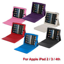 Folio Bluetooth Wireless Keyboard Leather Case Cover Stand For Apple iPad 2 3 4
