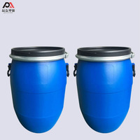60L Hdpe Chemical Plastic Drum Barrels With Iron Ring