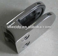stainless steel bridge railings/handrail D shape glass clamp back