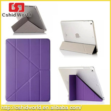 Fashion Style 4 Shapes Stand Design Magnetic Leather Case for iPad 4 3 2 Smart Cover Smartcover for iPad4 Utrathin