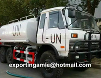 bottom price top level 10000liter 6x6 all wheel drive carbon steel tanker water truck