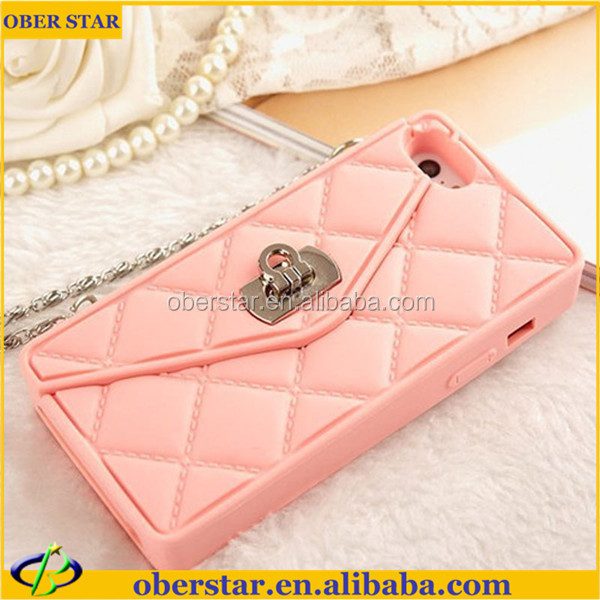 Wholesale for iPhone 5S Sex Girl Handbags Mobile Phone Silicone flip case cover Cases Cover With Free Screen Guard