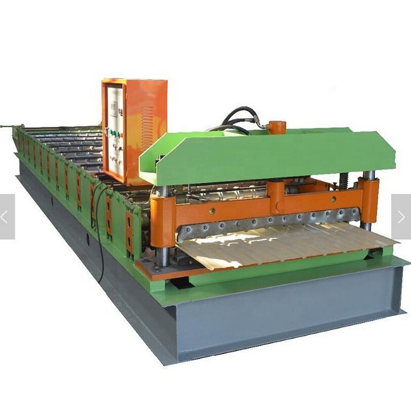 PLC Controlled Automatic Trapezoid Metal C8 Roof panel <strong>Rolling</strong> <strong>Forming</strong> <strong>Machine</strong>