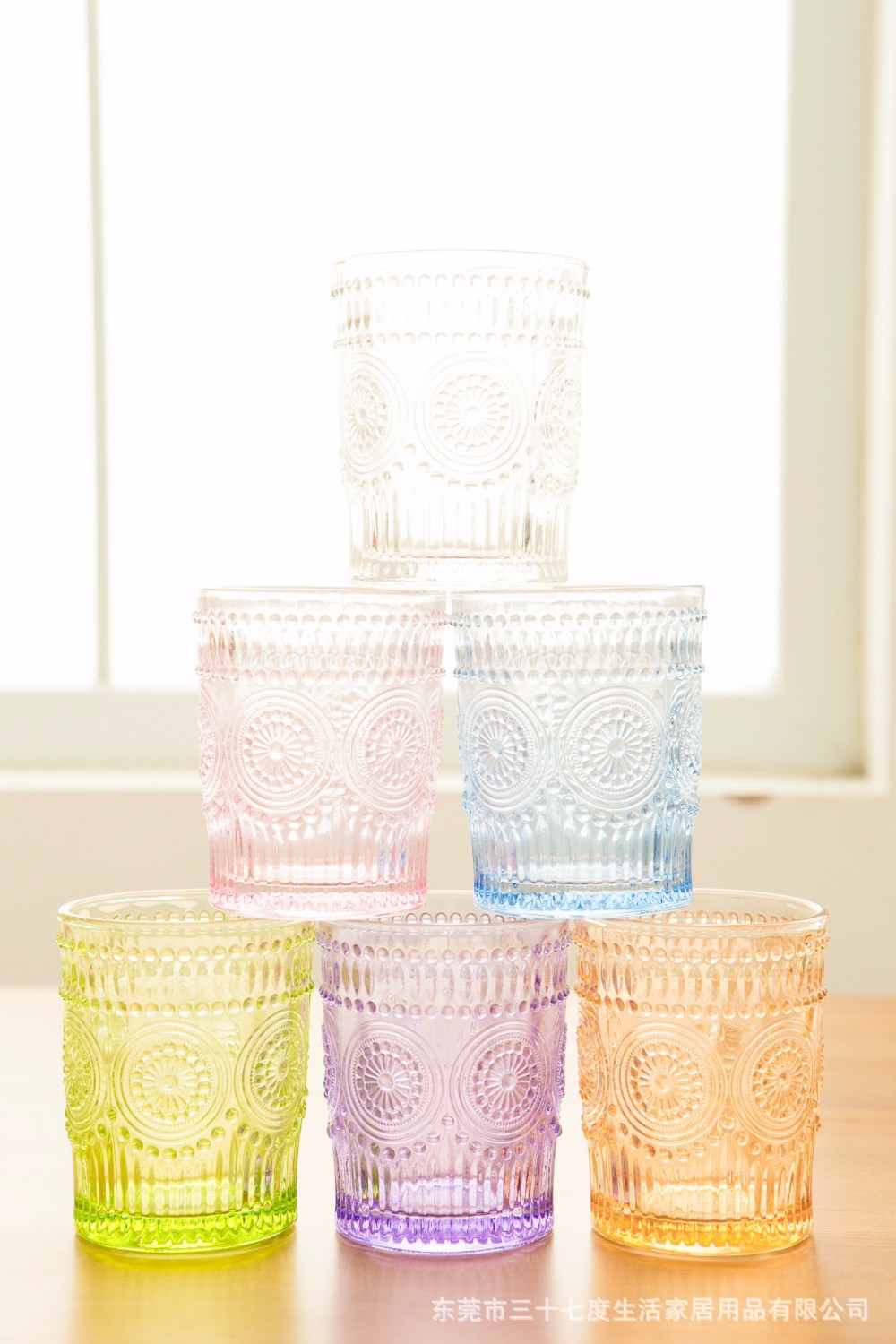 antique colored glass cup High quality color glass cup