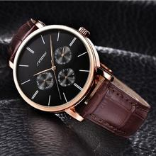Fashion Sport Watch Luxury Brand Leather Band Men Quartz Watches Chronogragph Clock Men Army Military Wrist Watch for Male S9536