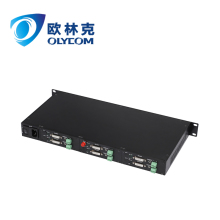 6ch uncompressed DVI video to fiber 1U rack optical converter with audio built-in