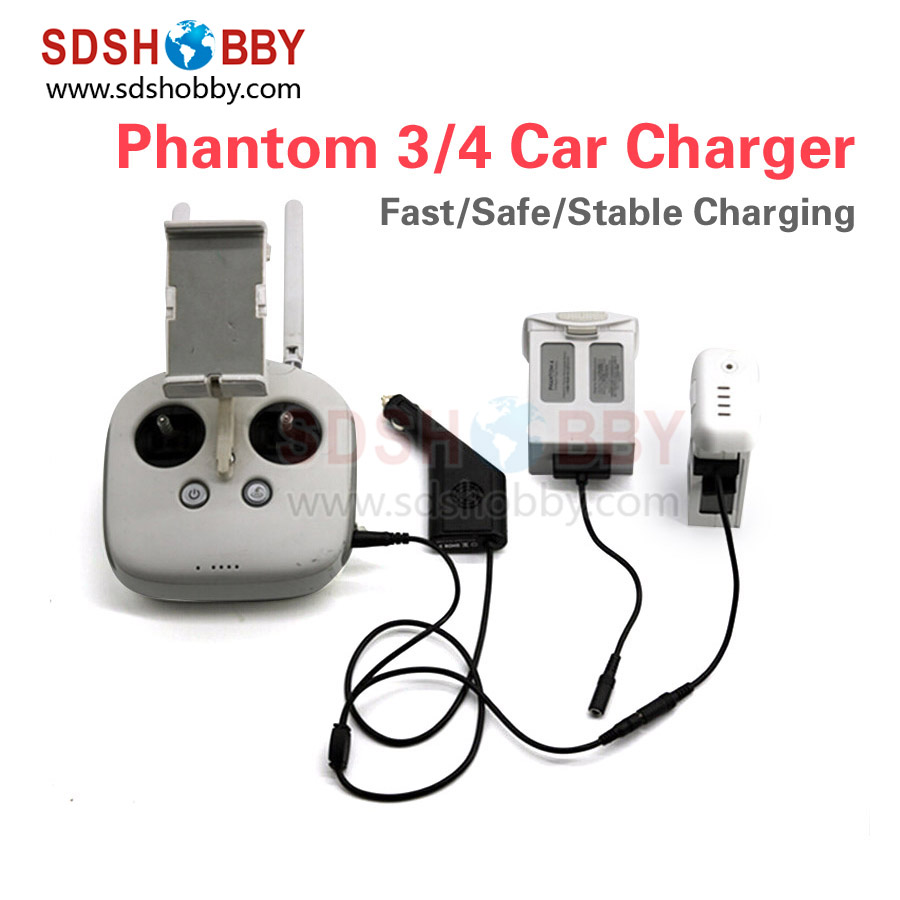 General Use Smart Car Charger Intelligent Battery Charger for DJI Phantom 3/4 /PRO/PRO+
