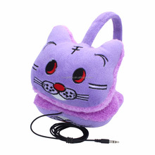 new arrival new design winter use cartoon wired earmuff headphone headset