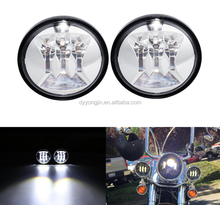 "4.5"" Round Motorcycle LED Auxiliary Passing Lights Chips 60W 12V Daymaker Motocross Fog Light For Harley Davidson"