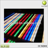 New Arrival!!! colorful with great price t8 led tube light 18-19w