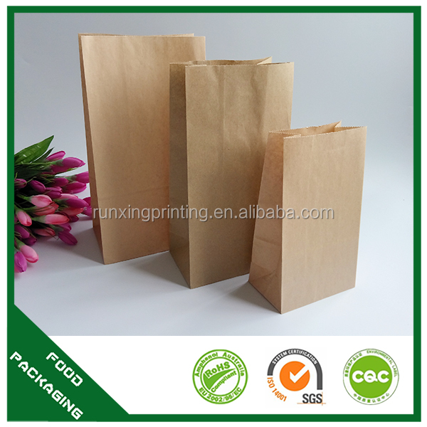 greaseproof Kraft paper bag fried chicken, mcdonalds paper bag, Kraft paper bag for food