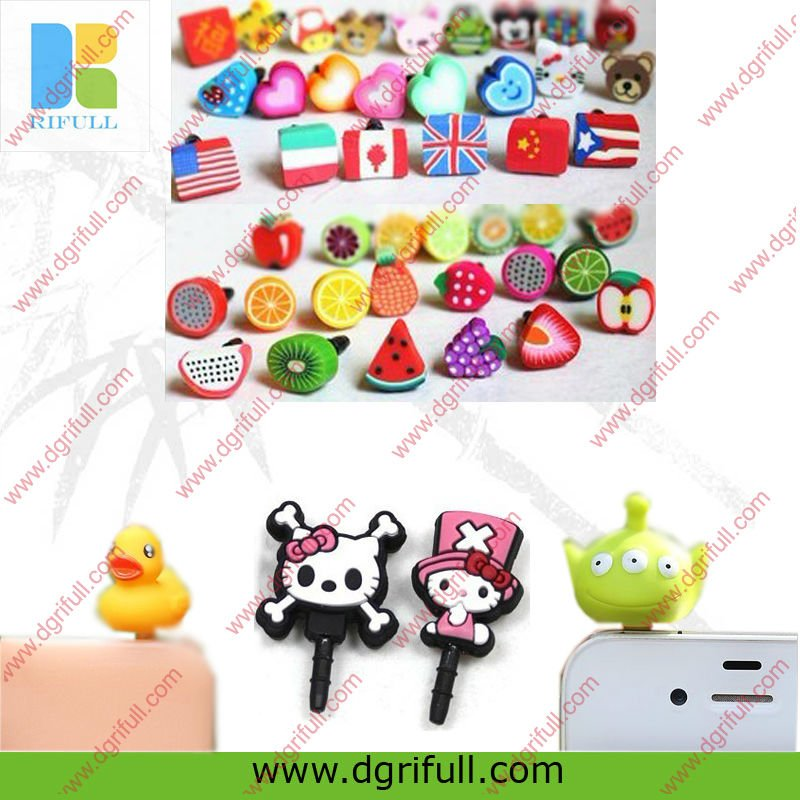 various styles silicone phone ear cap for iphone