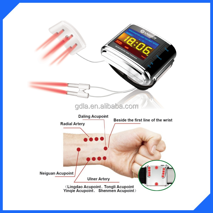 LASPOT watch digital non invasive laser blood therapy apparatus no pain no chemical