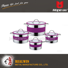 8pcs stainless steel cookware , 0.6mm thickness belly stock pot