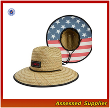 QHZT028/Custom Australia men's brands straw surf hat lifeguard safari straw hat