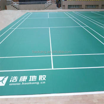 Factory Price PVC Wear Resisting Badminton Court Mat