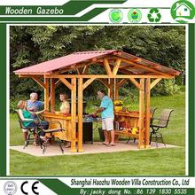 Hot new design garden outdoor wood gazebos