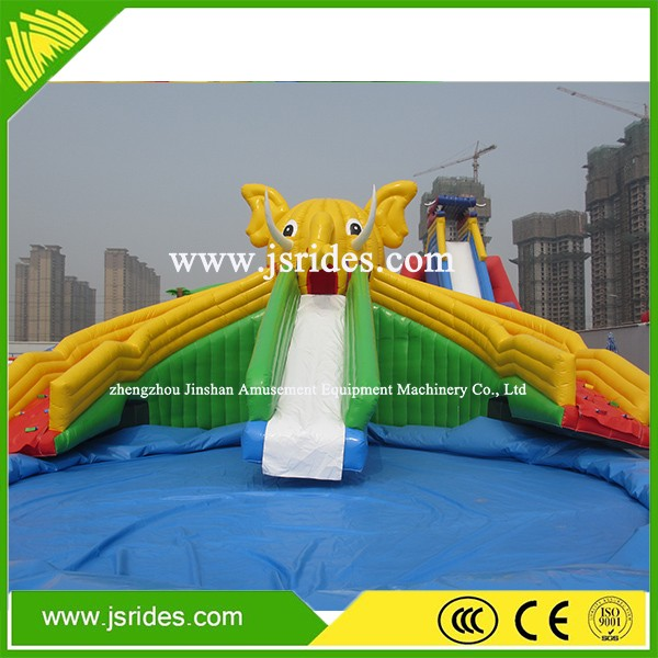 Giant water slide / Commercial inflatable slide for water park