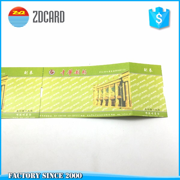Customized Paper RFID ticket for Interest entrance