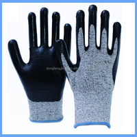 High Quality 13G HPPE Smooth Finish Nitrile Palm Dipped anti cut gloves--water and oil proof