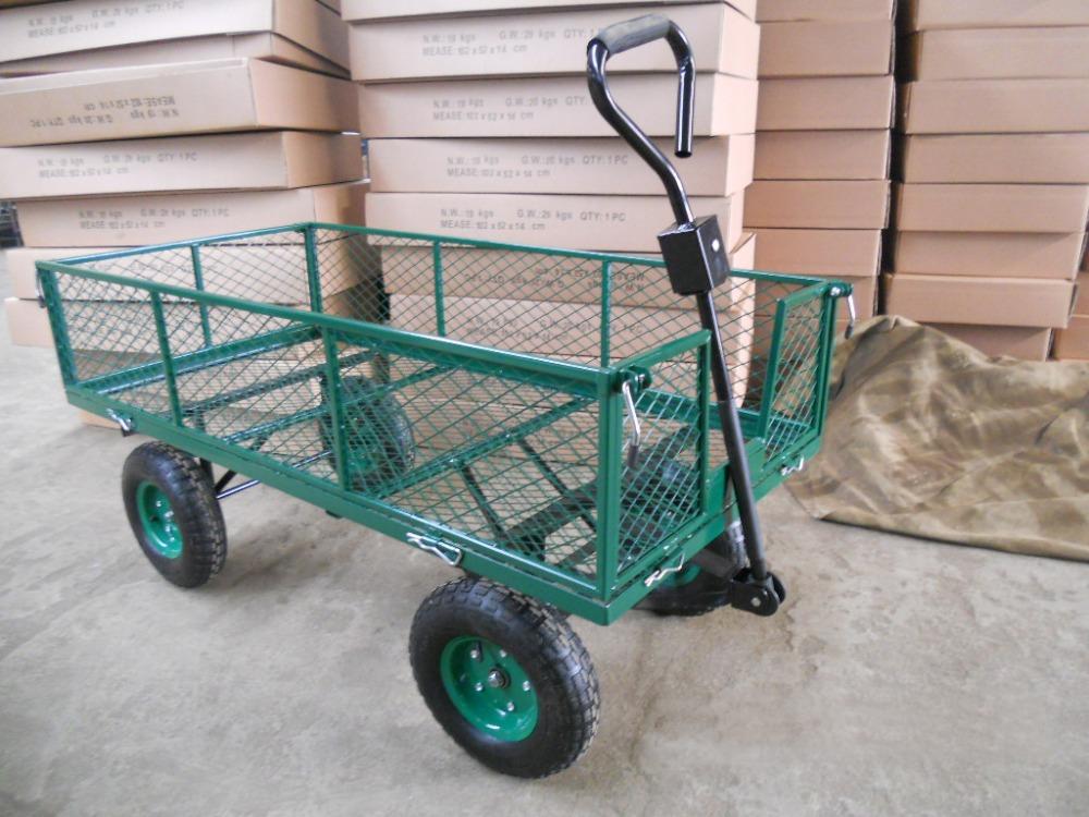 Garden tool cart four wheel folding cloth wagon cart buy for Garden tools for 4 wheeler