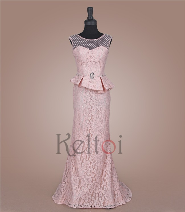 allure pink haute couture evening dresses for boat evening parties
