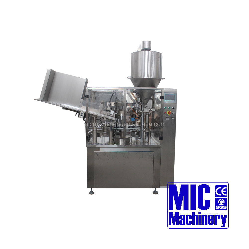 MIC-R60 automatic Tube hand cream/facial cleansing milk Filling and Sealing Machine for cream/paste/glue.ect with ce