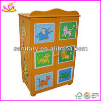 Kids cheap colorful wooden toy wardrobe (WJ278035)