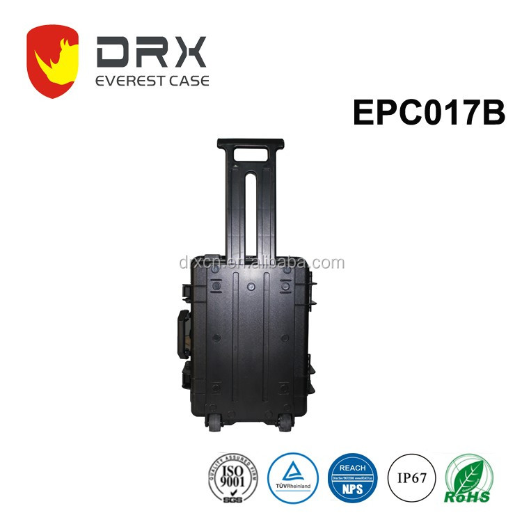 IP67 ROHS approved Plastic carry on abs plastic travel case