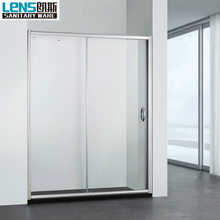 Smart glass sliding door shower screen