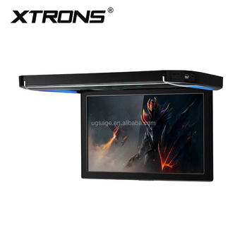 XTRONS 1280X800 roof mounted monitor with hdmi input, 12 inch car TFT lcd monitor support TV/USB/SD