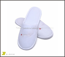 cheap disposable wholesale terry towel hotel slippers with embroidered logo