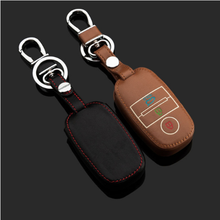 New Arrival 3 Buttons Luminous Leather Car Key Cover case for K I A K2 K3 K4 K5 KX3 Sportage smart Car key glow in the dark