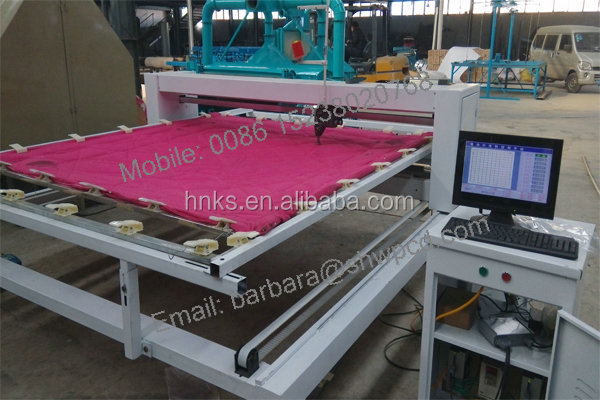 High efficiency industrial single needle quilting machine