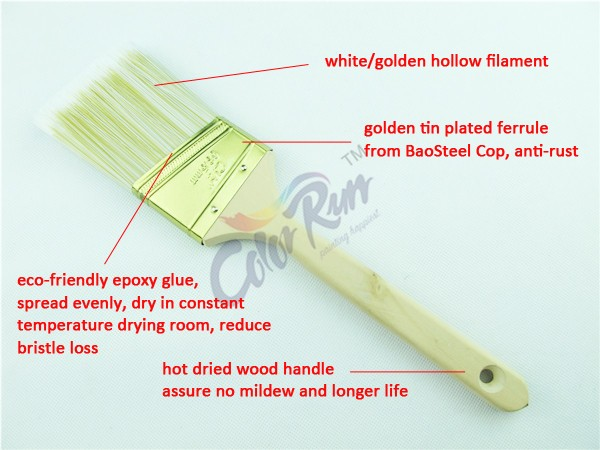 ColorRun Wholesale Wooden Handle Bristle Paint Brush