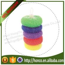 High Quality Colourful Plastic Pan Scourer Plastic Scourer Plastic Wire Scourer