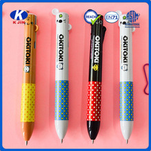 Customized cartoon plastic ball pen with logo